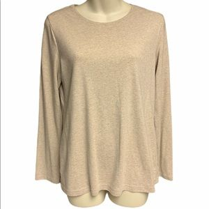 Croft & Barrow light brown M long sleeve top